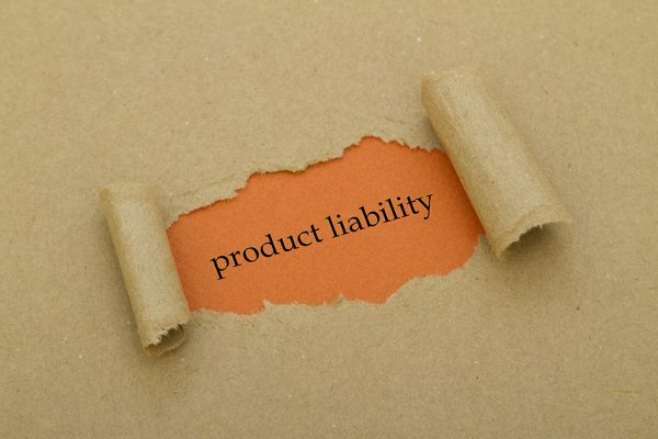 paper peeled away to reveal the words product liability