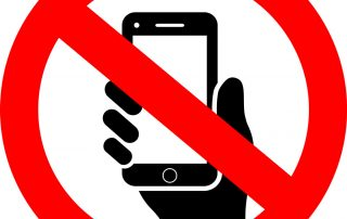 mobile phone prohibited sign - icon